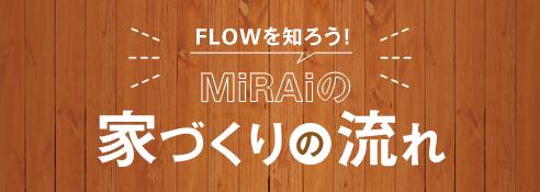FLOWを知ろう!株式会社未来(MiRAi)の家づくりの流れ